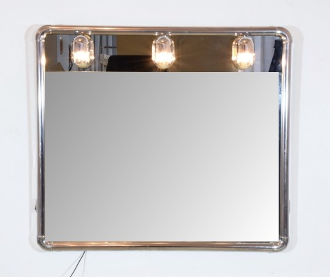 Vintage Vanity Mirror with Light Bulbs, 1970's