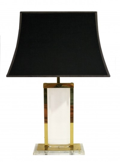 Brass & lucite table lamp, 1970s