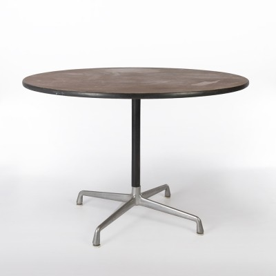 Original Herman Miller Walnut Eames Round Contract/Dining Table