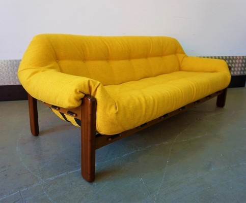 Brazilian Three Seater Rosewood Sofa from Percival Lafer, 1970