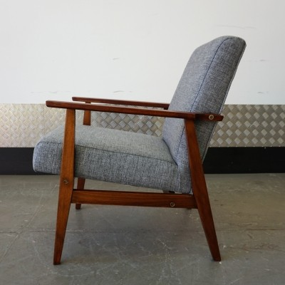 Grey Tweed Mid Century Easy Chair, 1970's