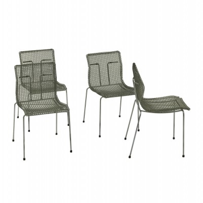 Set of 4 Rascal dinner chairs by Niall O Flynn for Spectrum, 1990s