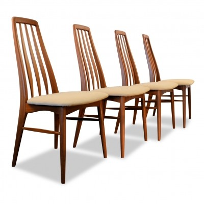 Vintage Niels Koefoed 'Eva' teak dining chairs, set of 4