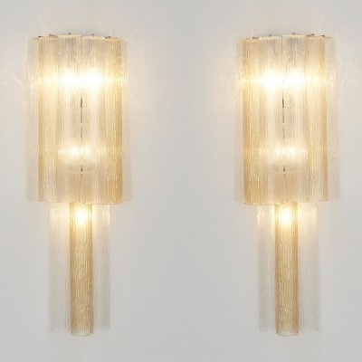 Pair of Large Italian Wall Sconces, 1960s