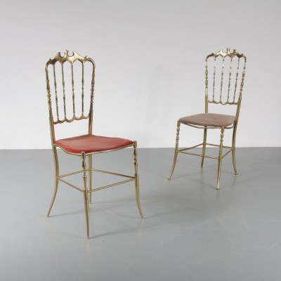 1960s Brass Italian side chair by Chiavari Legerissima