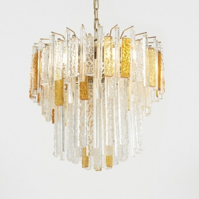 Italian Murano Glass Chandelier by Toni Zuccheri for Venini, 1960s