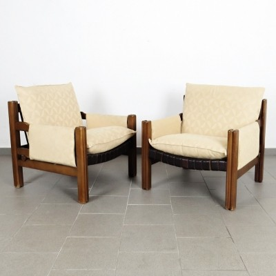 Pair of TON arm chairs, 1980s