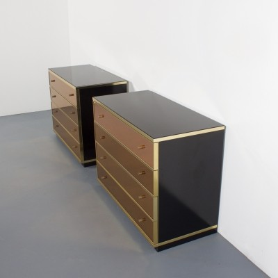 Pair of chest of drawers by Renato Zevi for Metalarte Spain, 1970s