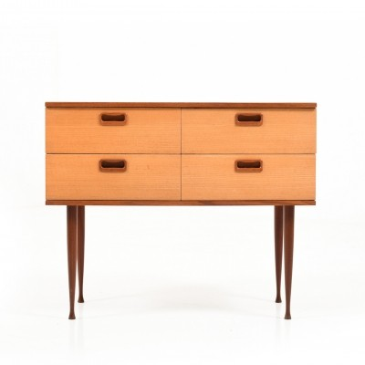 Early Danish Teak Chest of Drawers, 1950s