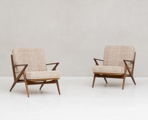 Set Easy chairs by Poul Jensen for Selig OPE, Denmark 1950