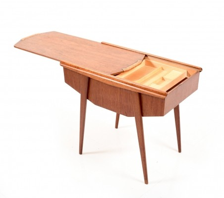 Mid Century Danish Sewing Table in Teak
