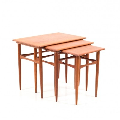 Mid Century Danish Nesting Tables in Teak