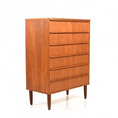 Mid Century Danish Teak Chest of Drawer by Steens