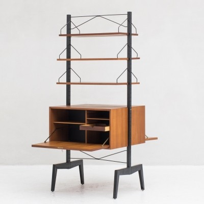 Rare freestanding 'Royal sytem' wall unit by Poul Cadovius, 1960