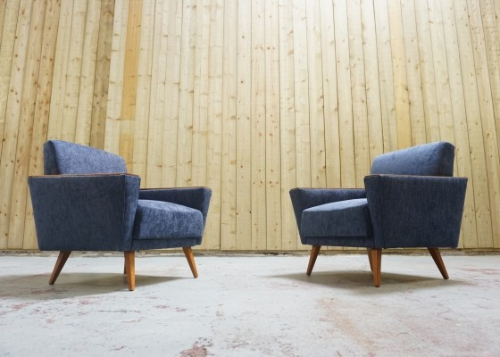 Pair of Mid Century Loungers, 1960s