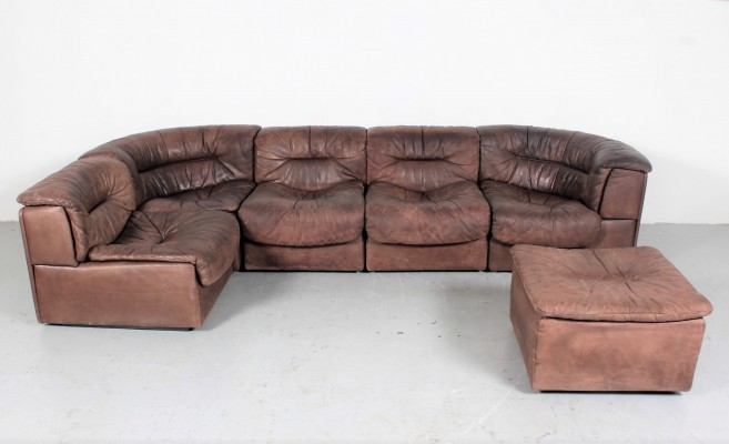 DS-12 (6 pieces) seating group by De Sede, 1960s