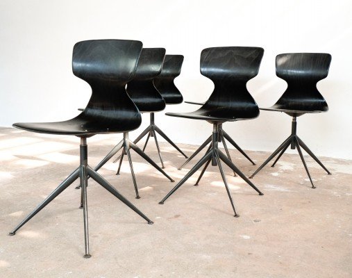 Height adjustable chairs by Pagholz, 1960s