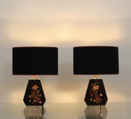 Pair of French Sea Life Table Lamps
