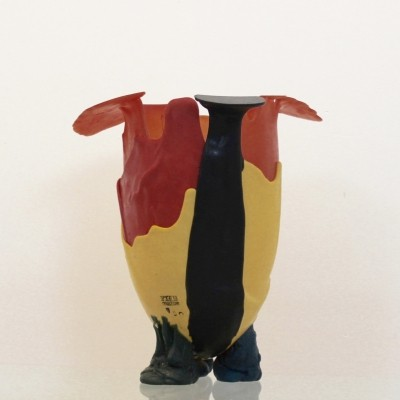 Premium Early edition Resin Vase by Gaetano Pesce, signed & stamped, Italy 1990s