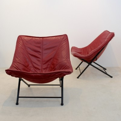 Exclusive Molinari Foldable Easy Chairs by Teun Van Zanten, 1970s