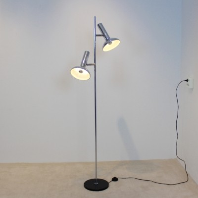 Chrome Plated metal Floor Light by Sölken Leuchten