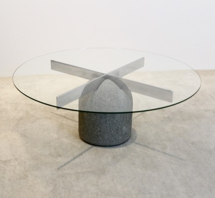 Italian Coffee Table by Giovanni Offredi for Saporiti, 1970s