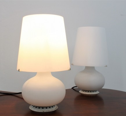 Vintage original table lamp by Max Ingrand for Fontana Arte, set of 2