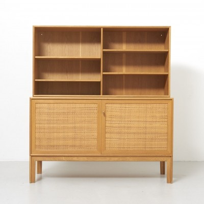 Alf Svensson Cabinet with Rattan Doors by Bjästa in Sweden