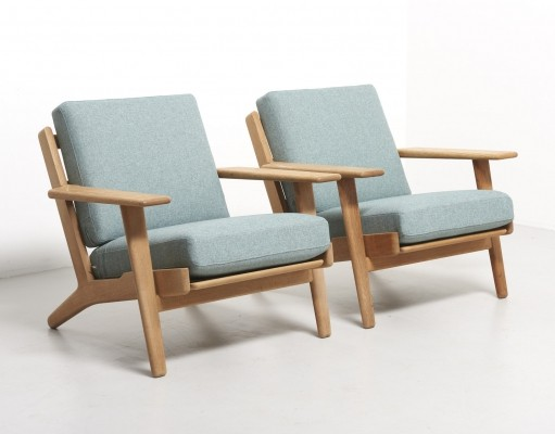 Pair of Easy Chairs Model GE-290 by Hans Wegner, 1953