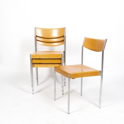 Set of 4 chairs designed by Edlef Bandixen for Dietiker AG