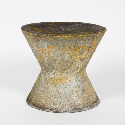Rare patinated stool by Ernst Müller, 1950s
