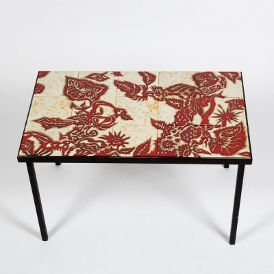 Classic table by French decorator & ceramist Jean Lurçat