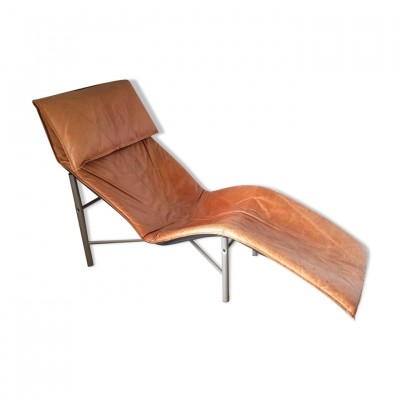 Vintage leather lounge chair by Tord Bjorklund for Ikea, 1970s