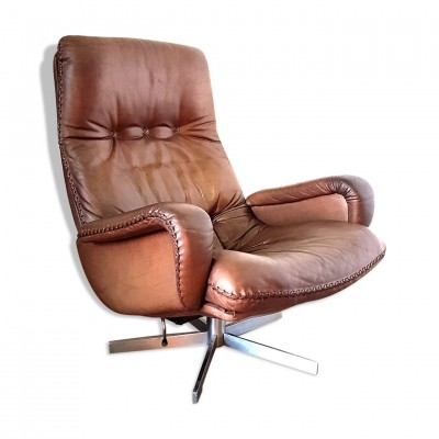 S231 loungechair in patinated leather for De Sede 1960s
