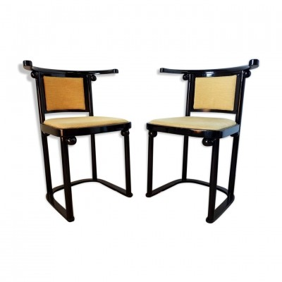 Fledermaus dining chairs by Josef Hoffman for Wittmann, 1970s
