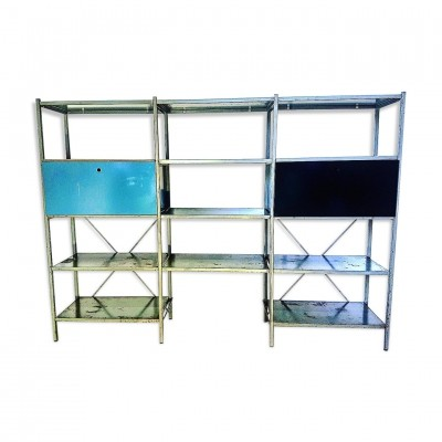 Patinated Model 663 metal wall unit by Wim Rietveld for Gispen, 1950s