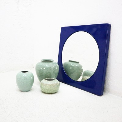 Enameled '60s Wall Mirror