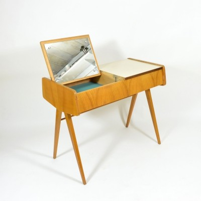 Czech dressing table with formica top & tilting mirror