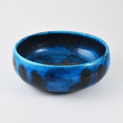 Blue bowl by Guido Gambone