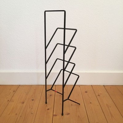 Metal modernist swiss magazine rack by Willy Fehlbaum, 1950s