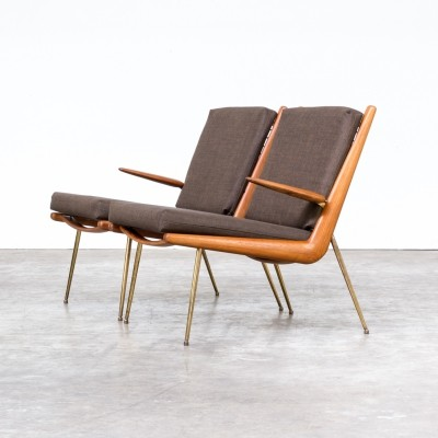 Pair of FD135 Boomerang lounge chairs by Peter Hvidt & Orla Mølgaard Nielsen for France & Son, 1960s