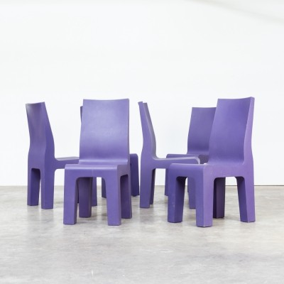 Set of 6 Centraal museum dining chairs by Richard Hutten for Gispen, 1990s