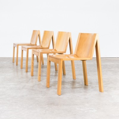 Set of 4 SE15 dinner chairs by Karel Boonzaaijer & Pierre Mazairac for Pastoe, 1970s