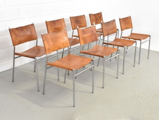 Set of 8 SE 06 dinner chairs by Martin Visser for Spectrum, 1960s