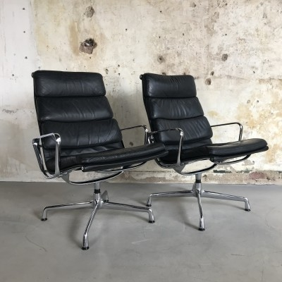 Set Herman Miller EA 216 Desk Chairs by Charles Eames, 1970s