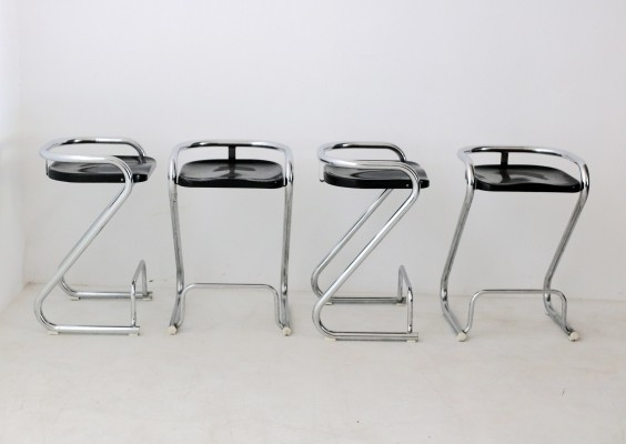 Model S70-3 Stools by Borge Lindau & Bo Lindekrantz for Lammhults, 1968s