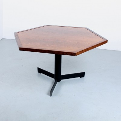 Hexagon dining table in wenge, 1970s