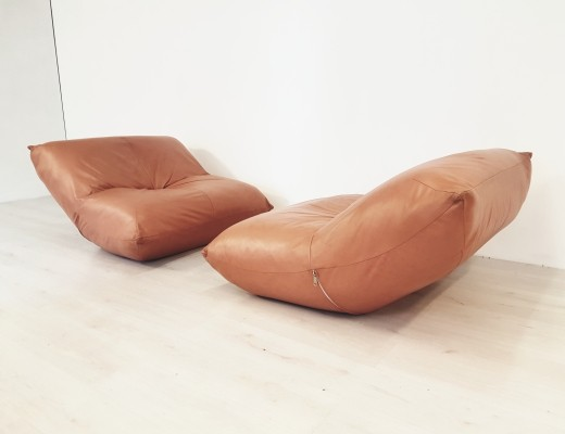 Rare set of 2 Papillon lounge chairs by Guido Maria Rosati for Giovanetti, 1970s