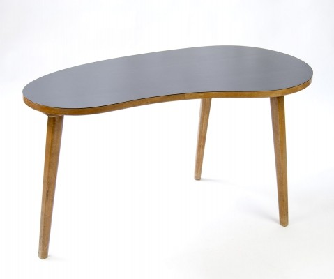 Kidney Shaped wooden Coffee Table, 1950s