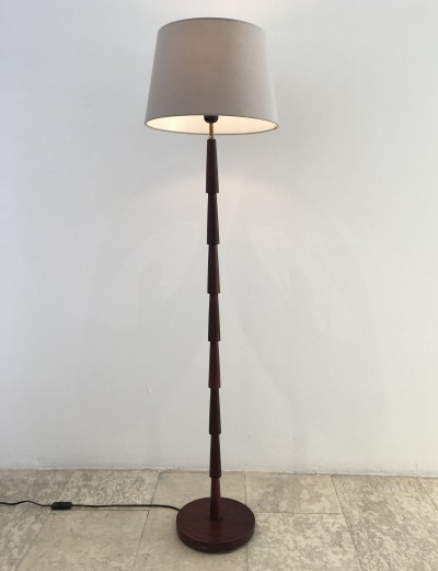 Danish Midcentury Wooden Floor Lamp